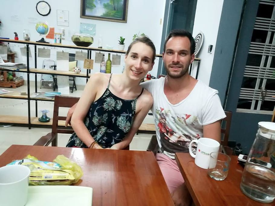 Lovely couple who visited at our house.