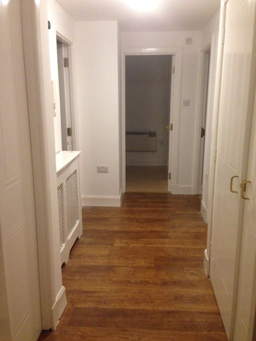The spacious hallway.