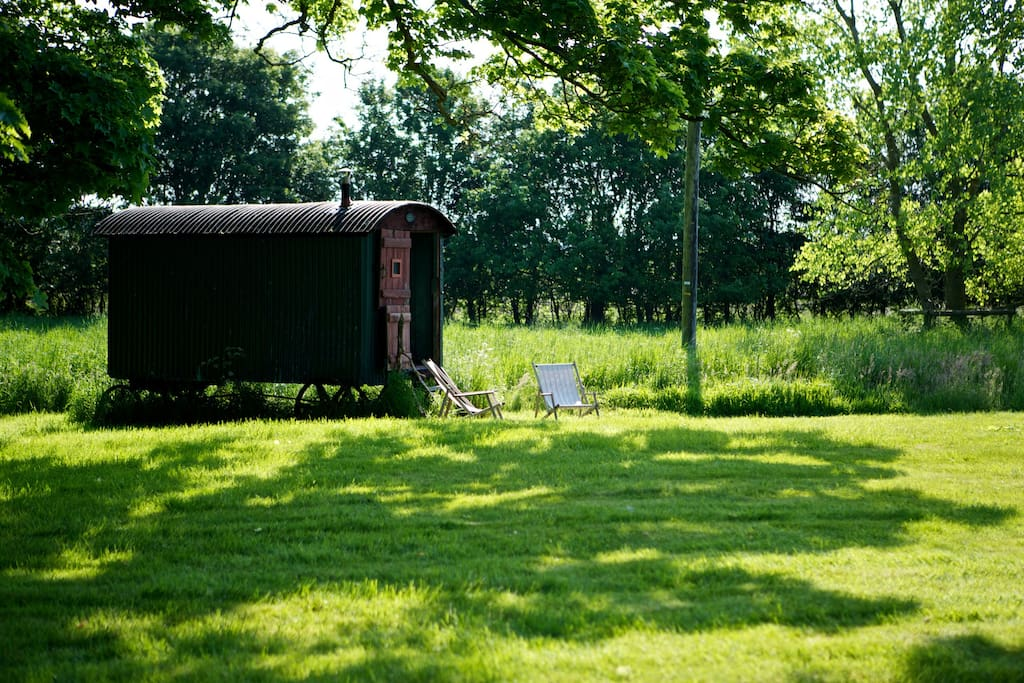 Shepherds hut for children to play or to get away for a read.