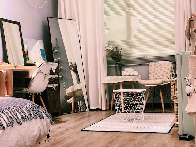 清·民宿 独立空间 闲趣时光~阳光大床房 厨房可做饭,可加床