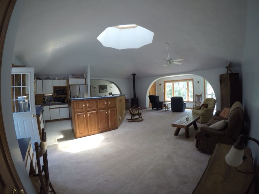 Open floor plan with central A/C and air filtration system