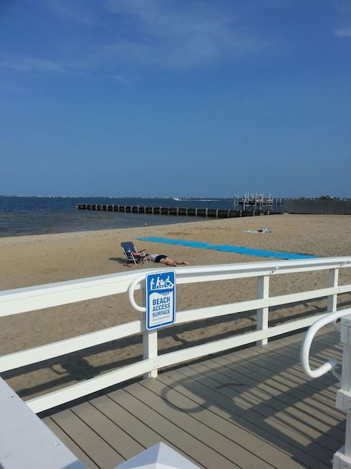 The bay air smells great and takes you to to another place. Barnegat Bay Beach