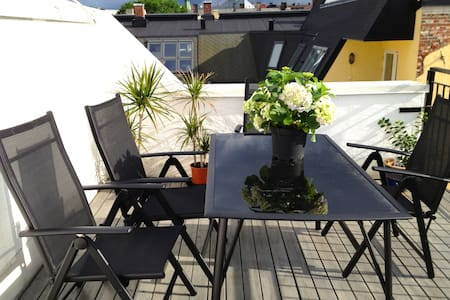 Penthouse w/roof terrace at Frogner