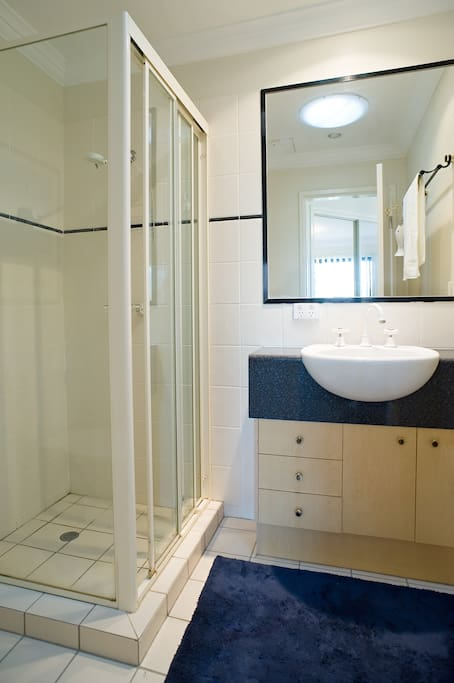 Your ensuite bathroom with shower