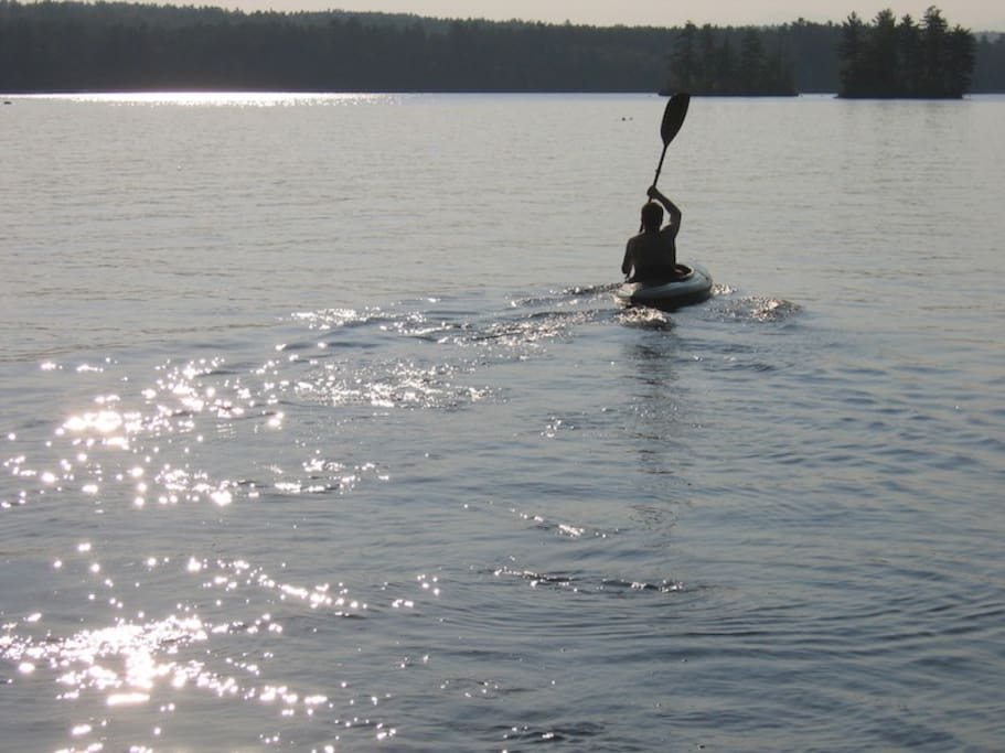 and a kayak!