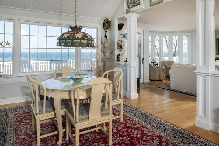 Beautiful Ocean views from the spacious deck at this Cape Elizabeth home!