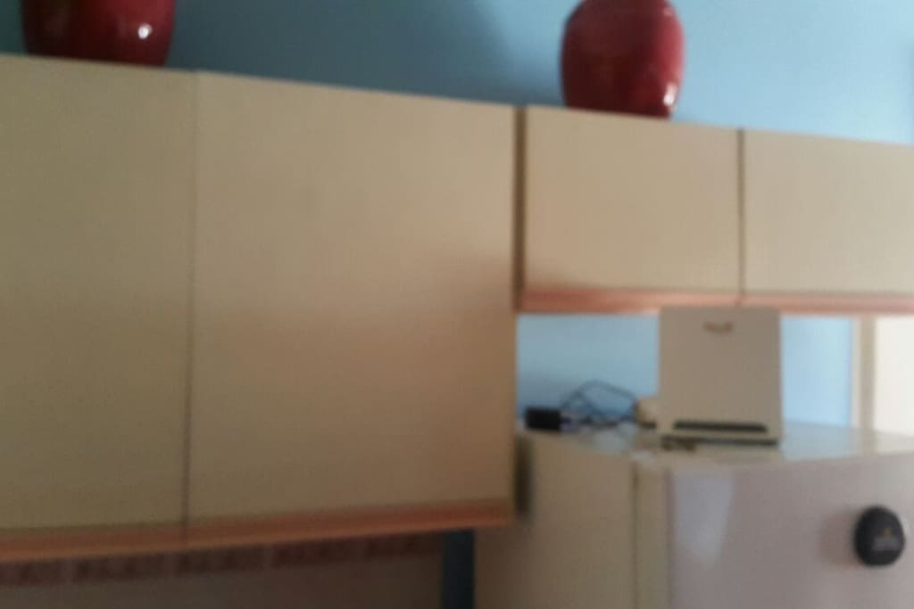 Roomy kitchen cabinets to store goodies