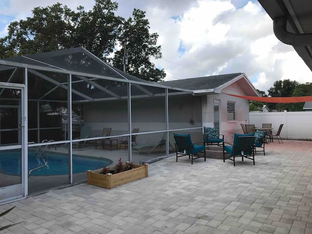 St. Pete House with pool & backyard oasis!