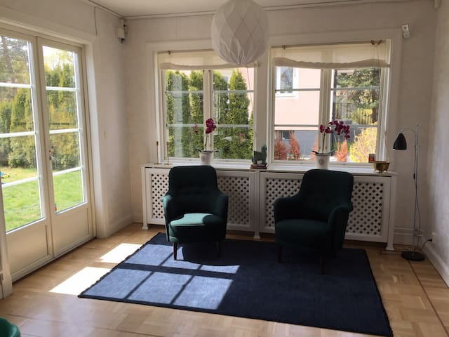 Livingroom with Doors out to the garden