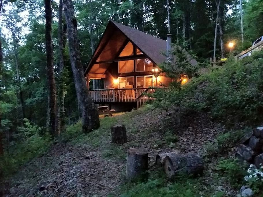 Front of cabin, summer nights (photo credit:  Tee Jay)