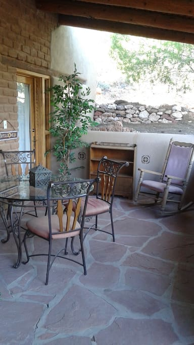 Private patio area just outside your door of the Grande Suite.