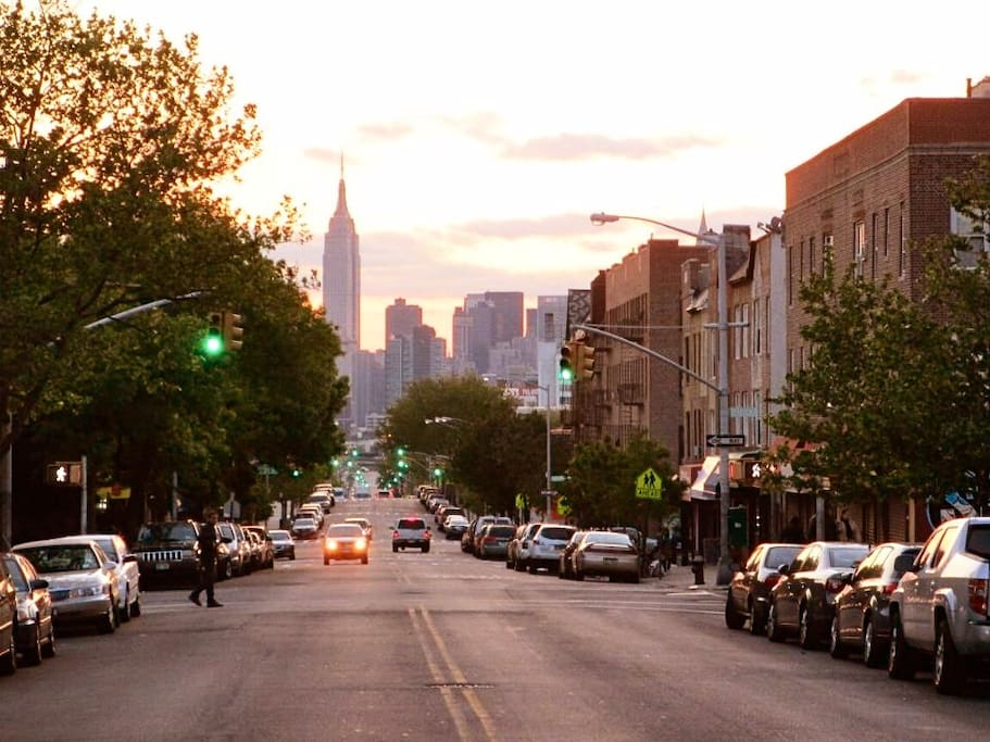 View of Empire state from our street