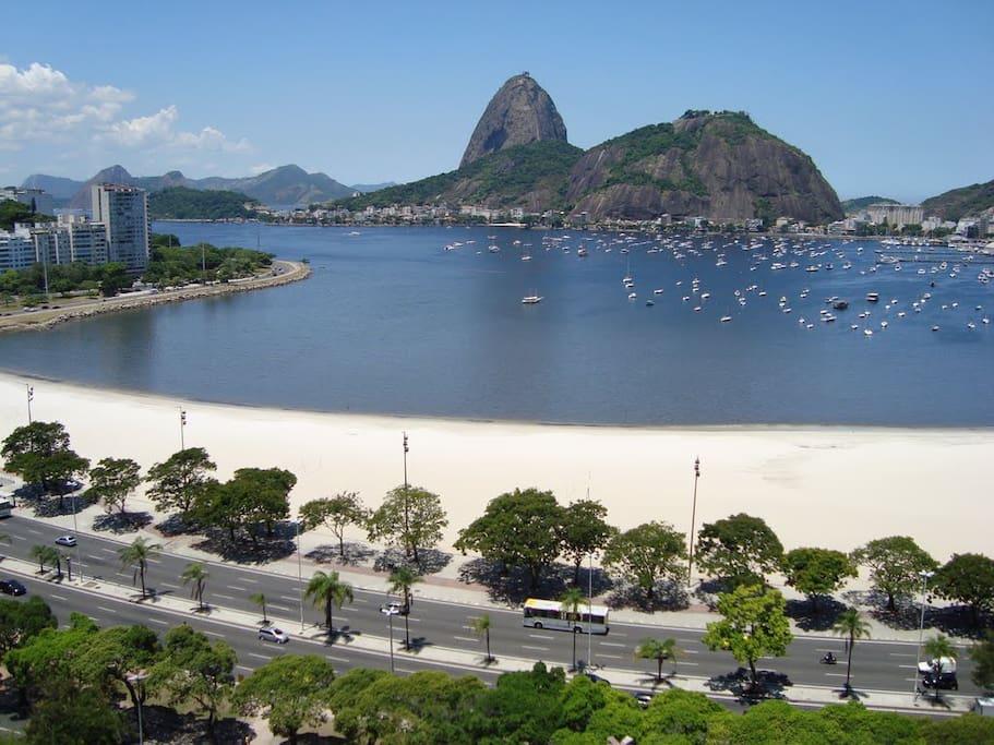 Botafogo Beach is just across the street