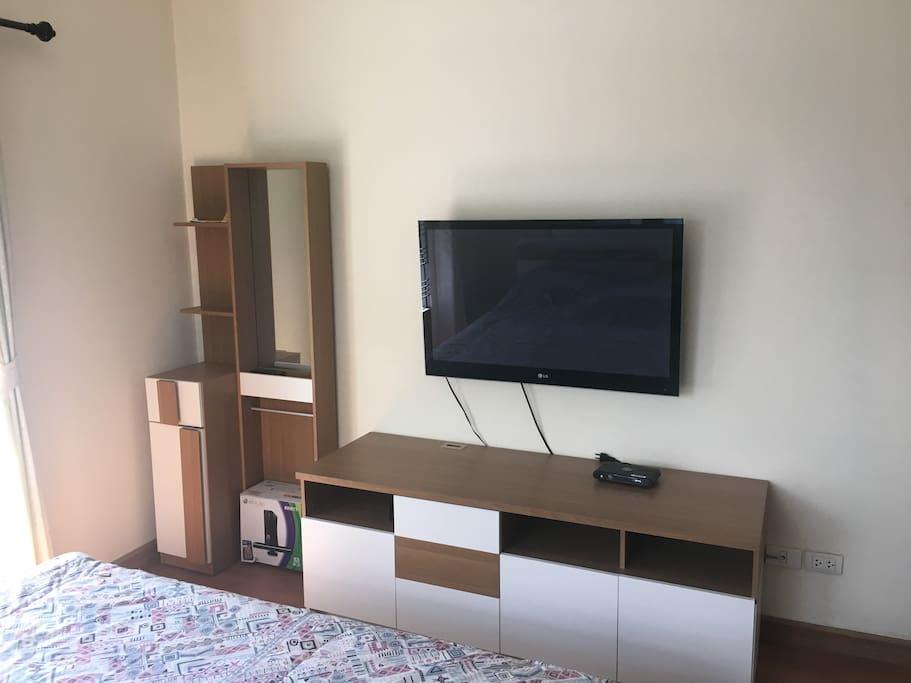 In-room TV screen