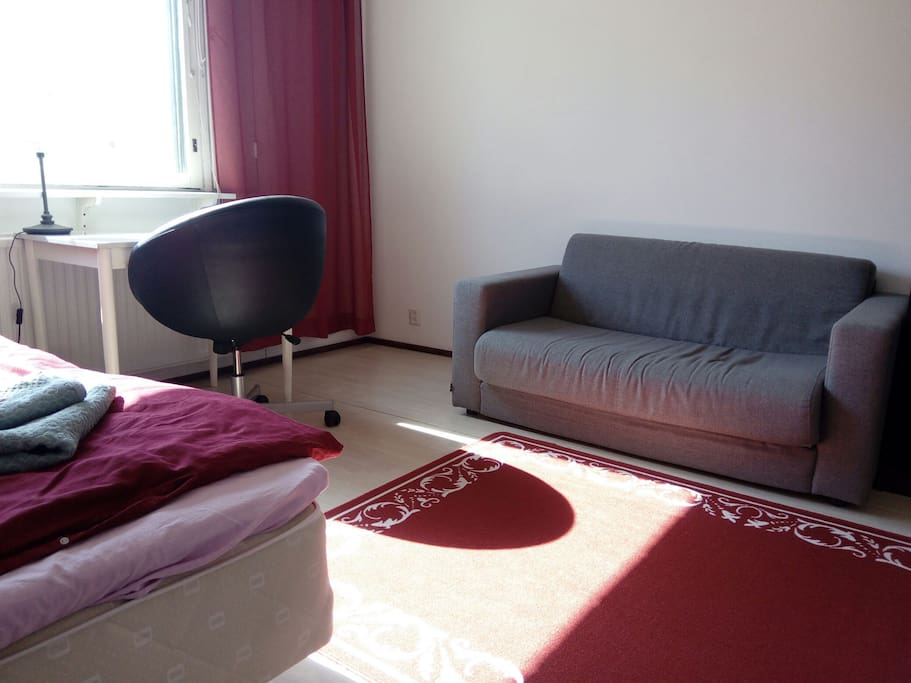 Nice Sofabed for two persons and daytime comfortable to sit and relax.