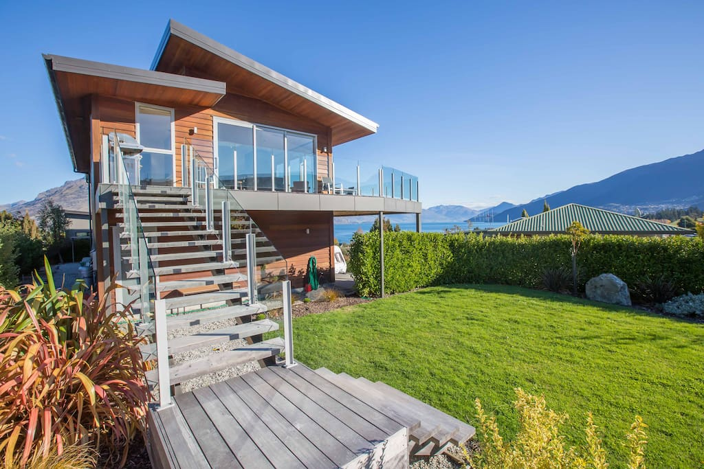 Elevated panorama views from this first floor house