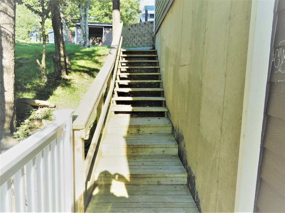 Walk down the steps to your Apartment, #^.