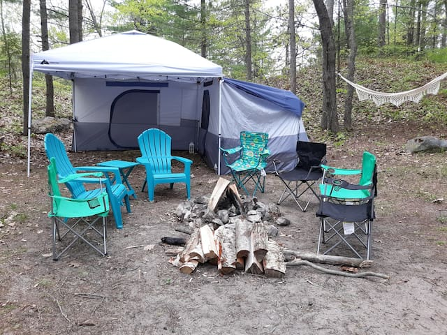 Campsite!  Tent, Bed, Grill, Wood, Etc. *Included*