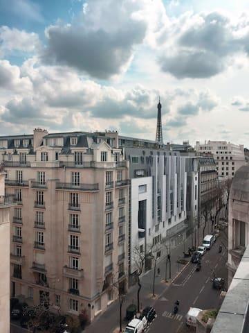 Appart' Bohême avec vue sur la tour Eiffel <3