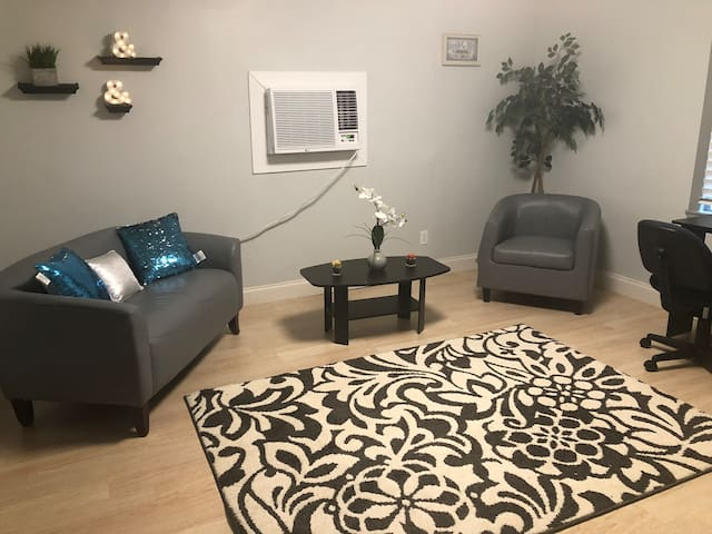 Quiet Downstairs Studio Near Downtown & Airport