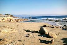 accès à la plage à pied