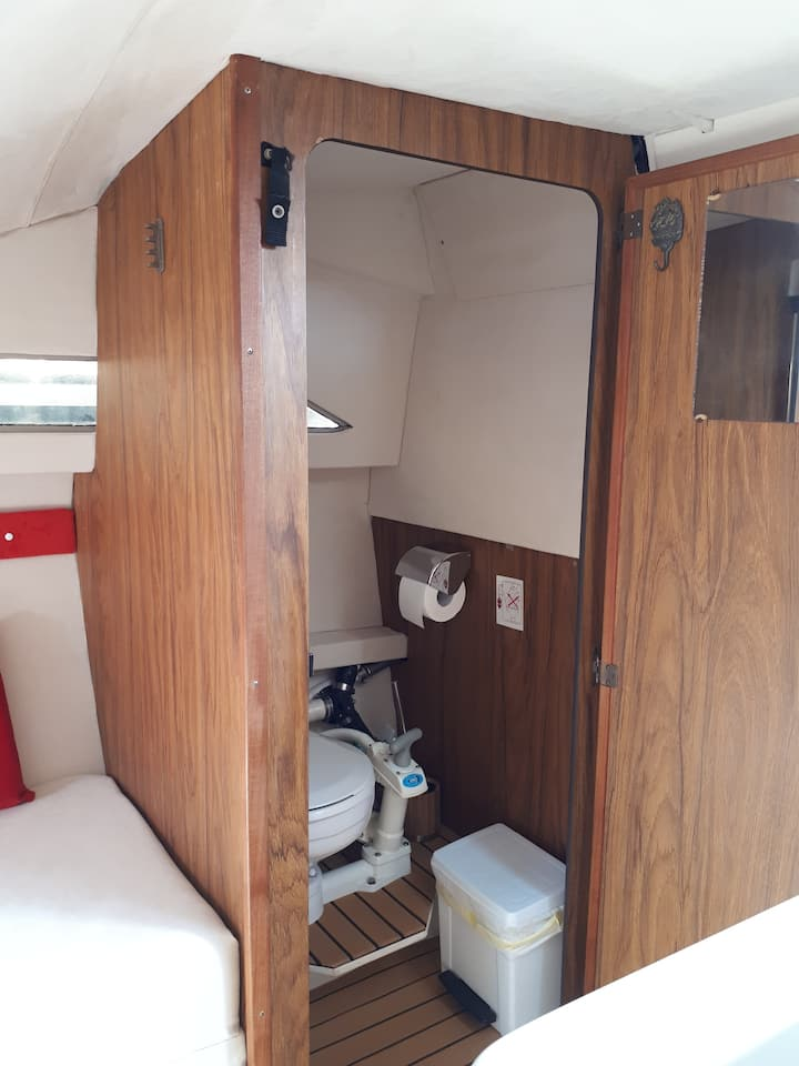 Wc inside of cabin