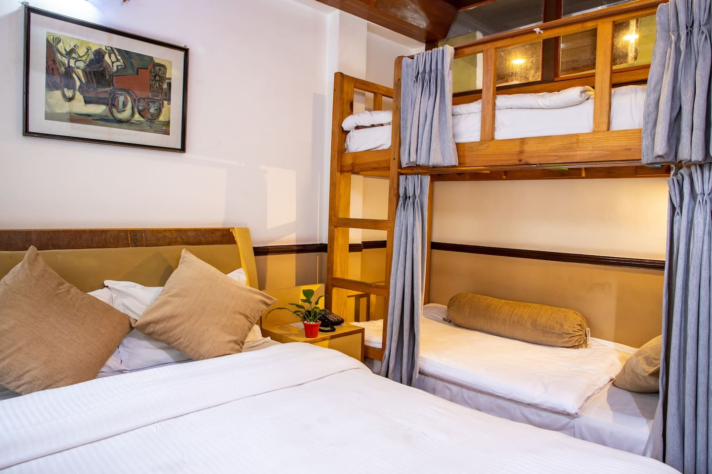 Comfortable to fit up to 4 person however more spacious upto three persons as well.
