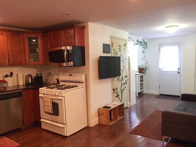 Private 1 bedroom suite with backyard access