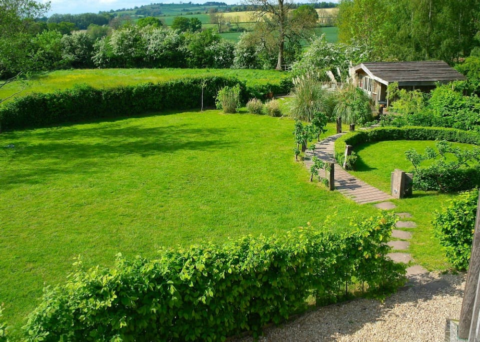 View of our large country garden.