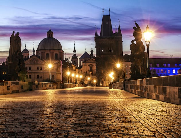 Charles Bridge - next door to Four Seasons Hotel!