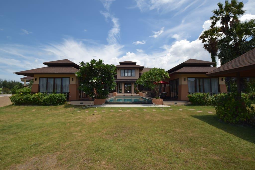 Villa from backside