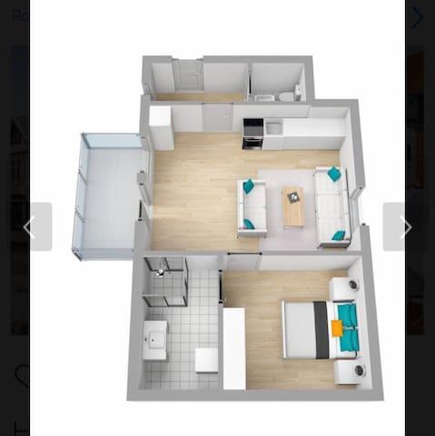 Sjarmerende leilighet med super beliggenhet