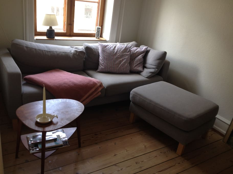 Cosy sofa in the small living room