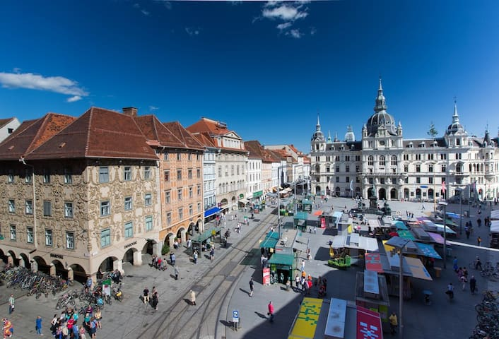 Large 2/3 bed flat-Graz City Centre - Graz - Appartement