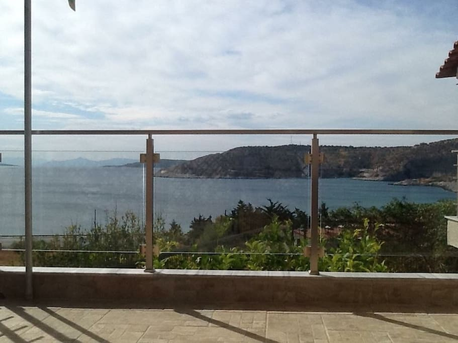View from the shaded veranda .. It's great to enjoy from early in the morning till late in the evening