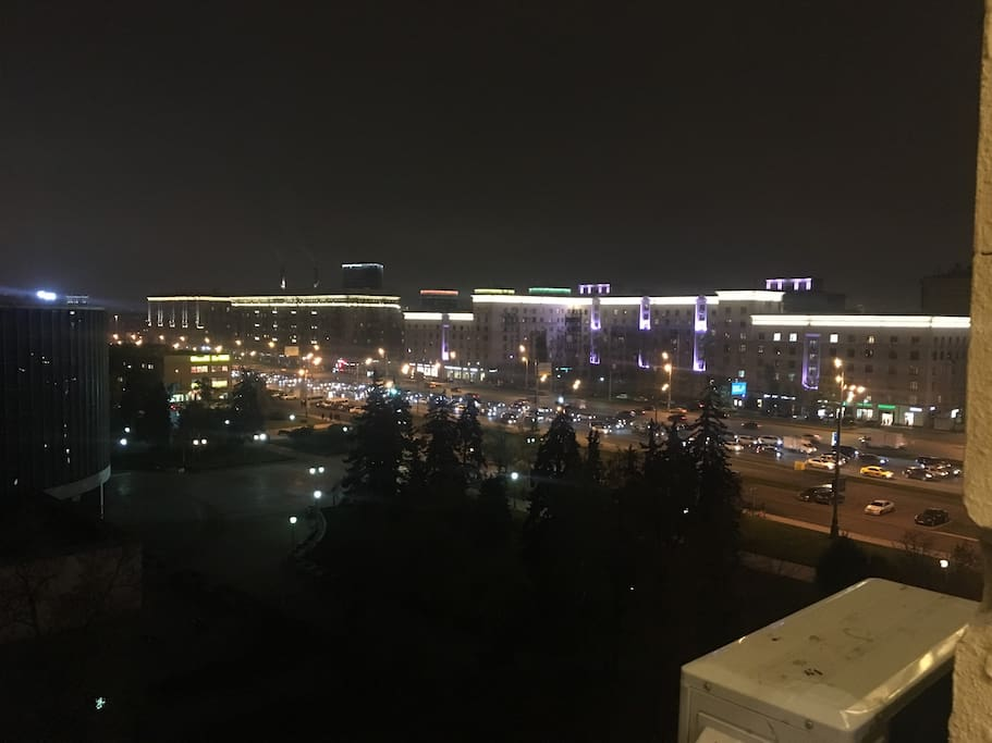 great city view to Kutjzovsky ave and Moscow City District