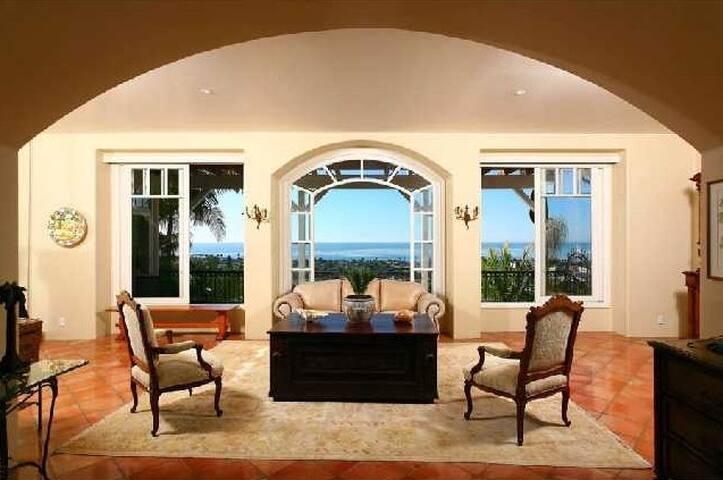Formal livingroom with full ocean view