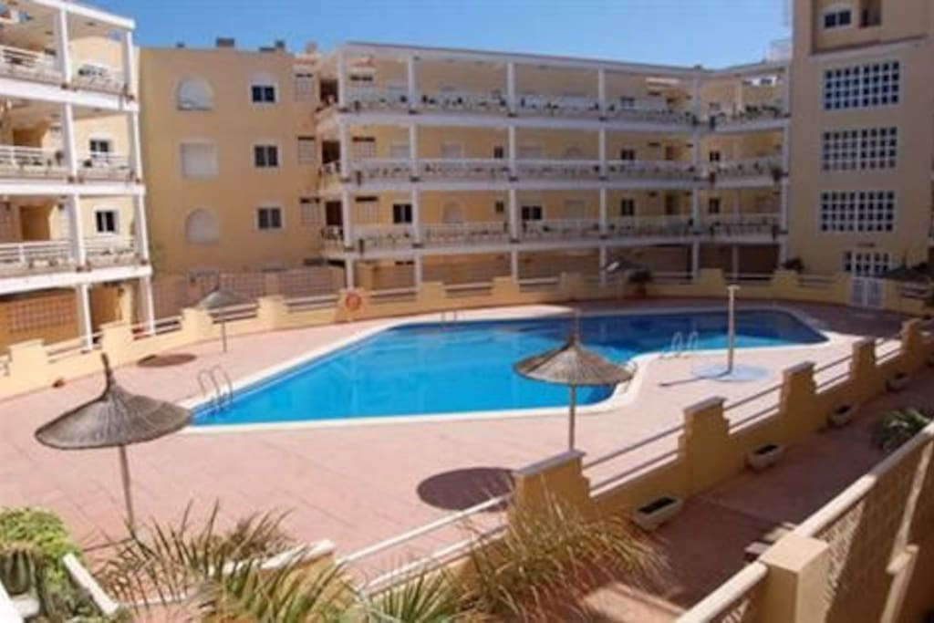 We have use of this swimming pool - great for kids or if the wind is a bit blustery off the sea. 2 min walk from the apartment.