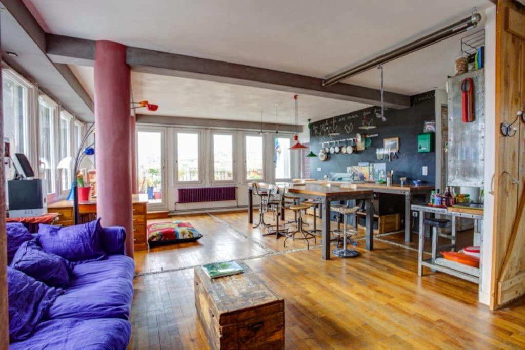Loft plein centre terrasse et vue lofts louer Loft et terrasse
