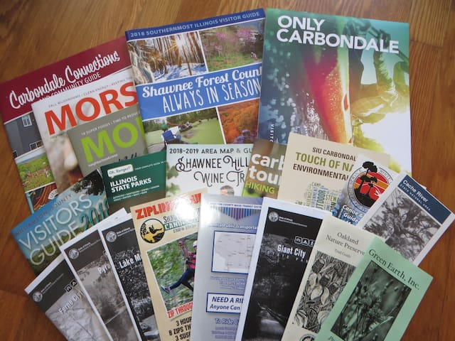 some of the local area brochures available to peruse