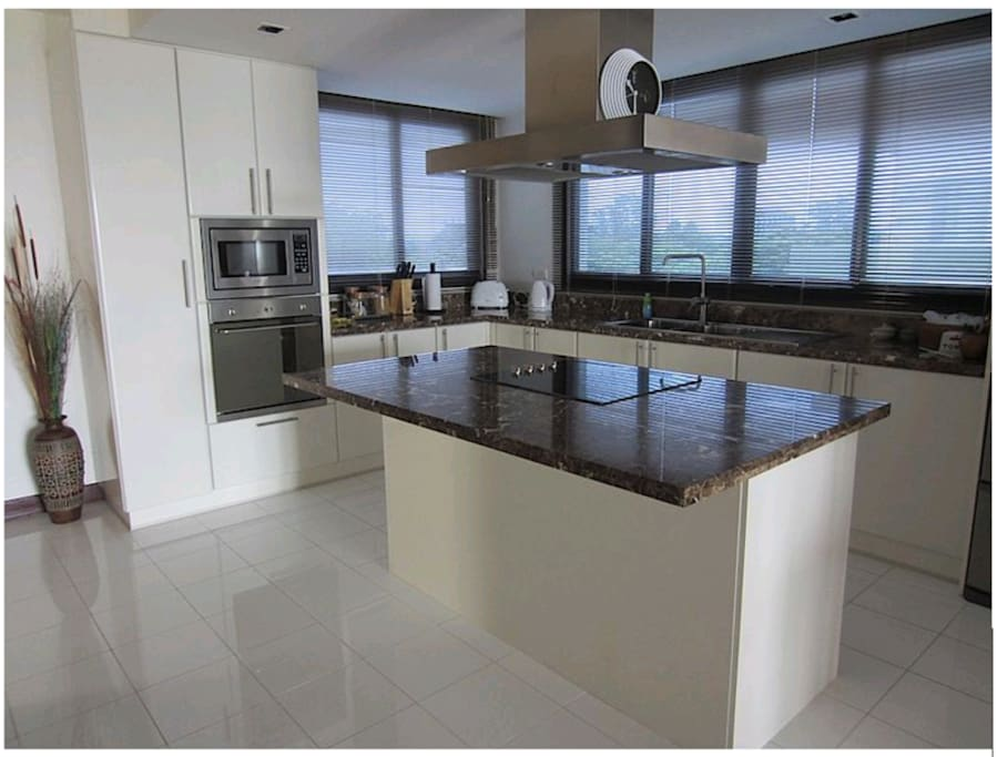 Fully equipped Kitchen with Oven and Microwave
