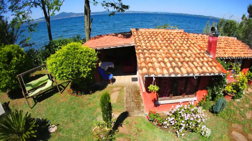 Rome! house at lake private beach!! - Lungolago - Casa