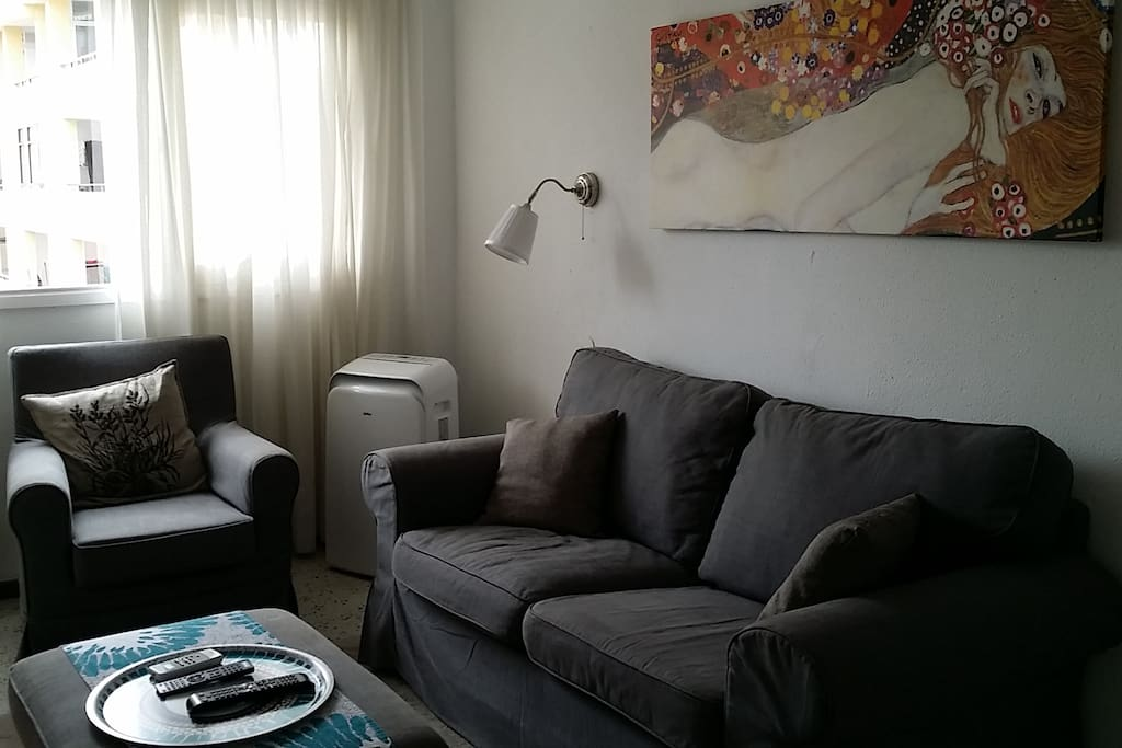 Living Room with Air Conditionner