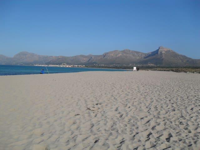 Kilometerlanger Naturstrand bis nach Son Serra de Marina