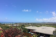 View of the ocean from lanai