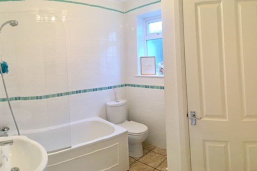 Bathroom with shower screen