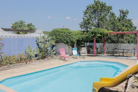 chambre dans grande maison + jardin - Marsella