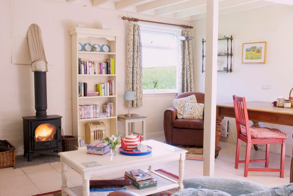 Cosy woodburner and underfloor heating, perfect on a chilly winters day.