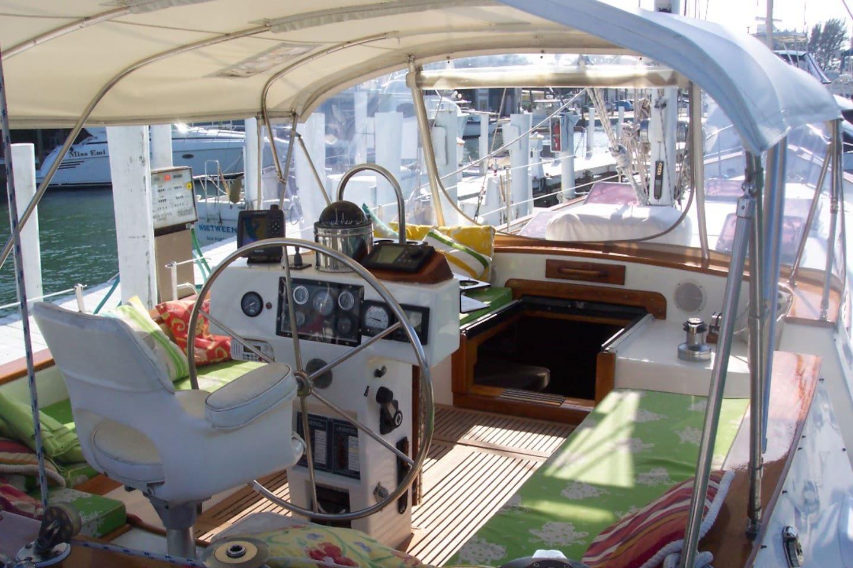 Cockpit aboard Dream Lover