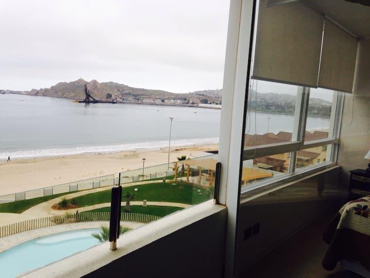 Departamento con piscina y playa